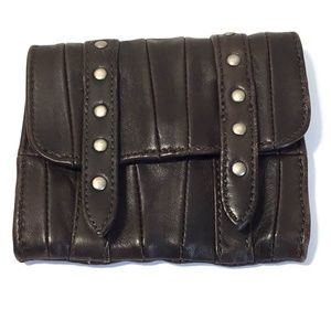 Max & Co. Studded Genuine Leather Small Belt Bag